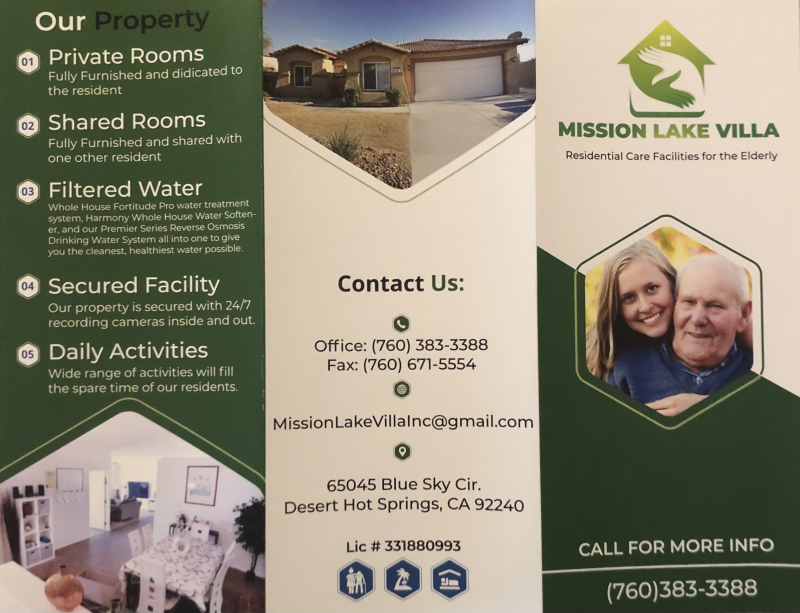 Boarding Care Mission Lake Villa in Palm Springs, CA