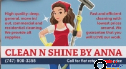 Clean N Shine by Anna, Glendale, Burbank, North Hollywood, Los Angeles and Close Areas, CA