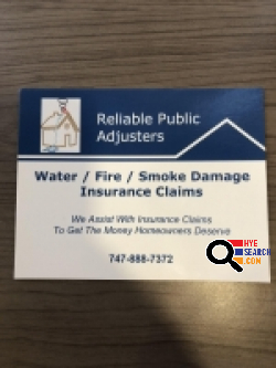 Reliable Public Adjusters in Glendale, CA