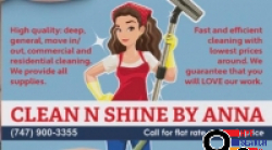 Clean N Shine by Anna​, Glendale, Burbank, North Hollywood, Los Angeles and Close Areas, CA