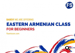 Eastern Armenian Classes with a Native Speaker